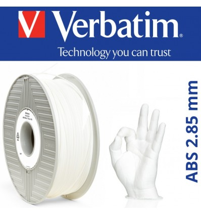 Filament Verbatim ABS 2.85 mm Blanc