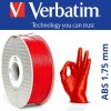 ABS Verbatim 1.75 mm Rouge