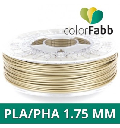 "Filament ColorFabb PLA / PHA - 1.75 mm Or pâle ""Pale Gold"""