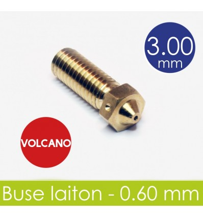 Nez laiton 0.6 mm - 3 mm Kit Volcano E3D