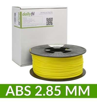 Bobine dailyfil ABS 2.85 mm - Jaune 1 Kg