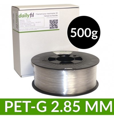Bobine dailyfil PET-G Naturel Translucide - 2.85 mm 500g