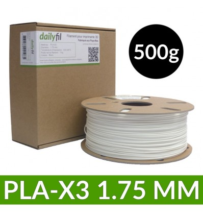 PLA-X3 dailyfil blanc 1.75 mm 500g