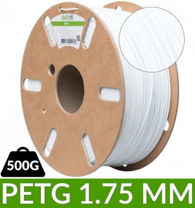 Dailyfil filament PET-G Blanc - 1.75 mm 500g