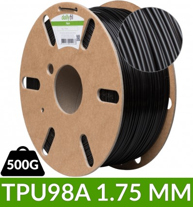Flexible TPU98A dailyfil - Noir 1.75 mm 0.5kg