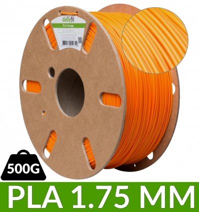 Bobine PLA Orange dailyfil - 500g 1.75 mm
