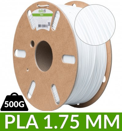 Fil dailyfil Blanc PLA - 500g 1.75 mm