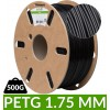 Bobine de fil PET-G dailyfil - 500g Noir 1.75 mm