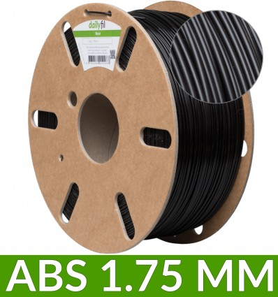 Bobine ABS dailyfil - 1.75 mm Noir 1Kg