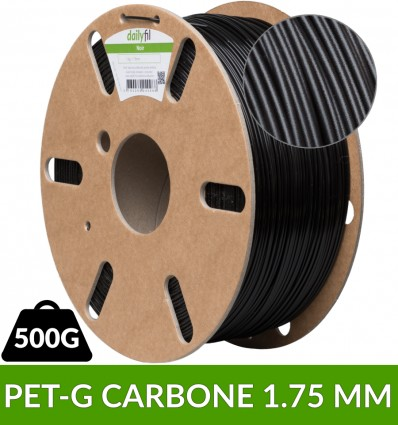 Bobine PET-G Carbone dailyfil 1.75 mm - 500g