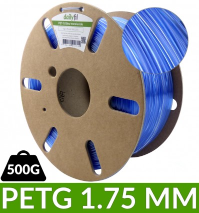Fil Bleu Translucide dailyfil - PET-G 500g 1.75 mm