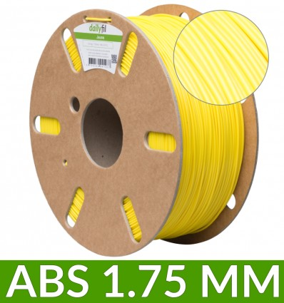Bobine dailyfil ABS 1.75 mm - 1 Kg Jaune