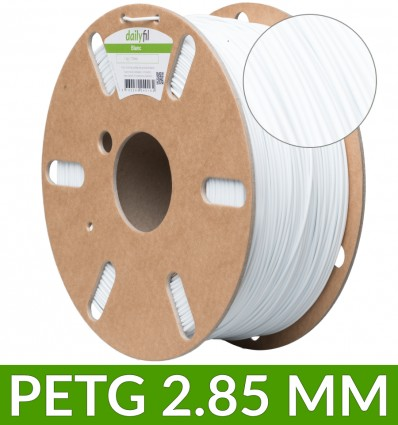 Filament PET-G Blanc - 2.85 mm 1kg dailyfil