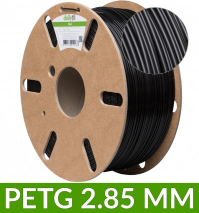 Bobine fil PET-G dailyfil 2.85 mm - 1kg Noir