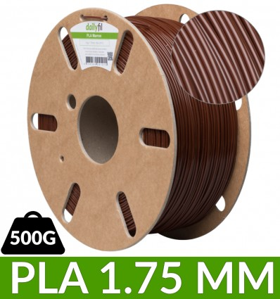 Bobine PLA 500g dailyfil - Marron 1.75 mm