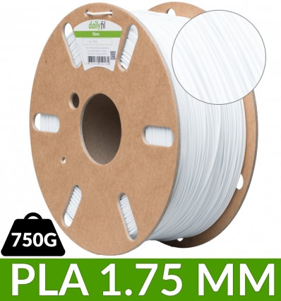 Fil PLA blanc 1.75 mm 750g - dailyfil