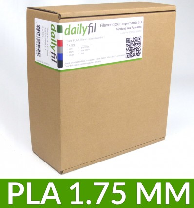 Pack de filament PLA 1.75 mm dailyfil - 6 coloris x 50g
