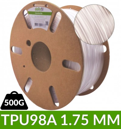 TPU98A fil flexible dailyfil - translucide 1.75 mm 500g