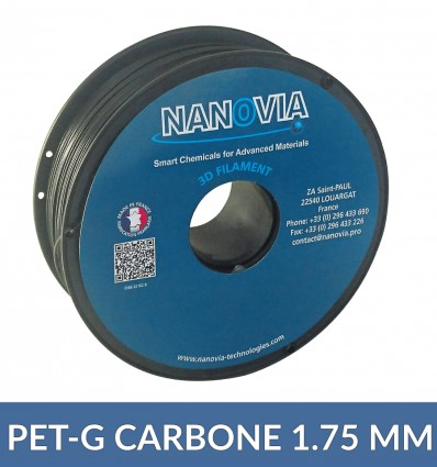 PET-G / Carbone 1.75 mm Nanovia - 1 kg