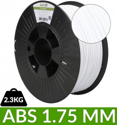 Filament ABS 1.75 mm Blanc dailyfil - 2.3 kg