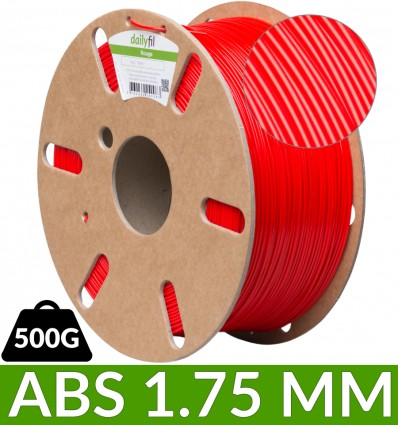 500g ABS Rouge - dailyfil 1.75 mm