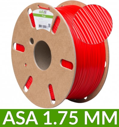 Filament ASA rouge 1.75 mm 1kg - dailyfil