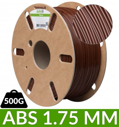 Fil ABS 1.75 mm dailyfil - 500g Marron