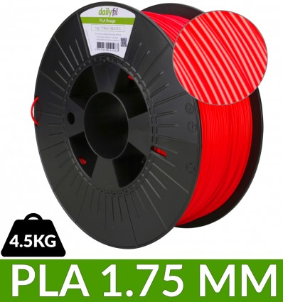 Filament PLA 1.75mm rouge dailyfil - 4,5kg