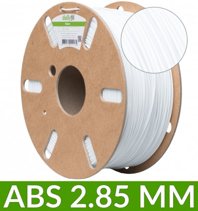 1 Kg fil ABS dailyfil - 2.85 mm Blanc