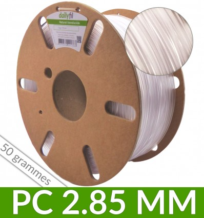 Polycarbonate 2,85 mm naturel dailyfil - couronne de 50g