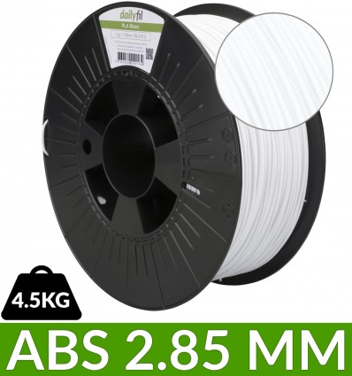 ABS imprimante 3D dailyfil 2.85 mm - 4.5 kg noir