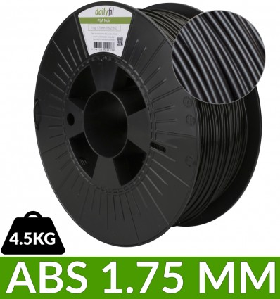 Bobine ABS 1.75 mm dailyfil - Noir 4.5kg