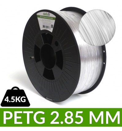 Fil PETG 2.85mm Naturel Translucide dailyfil 4,5kg