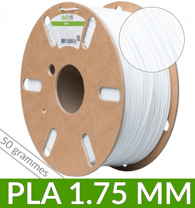 Couronne dailyfil PLA - 50g 1.75 mm Blanc