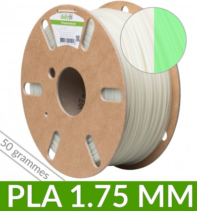 Fil PLA phosphorescent dailyfil - 50g 1.75 mm