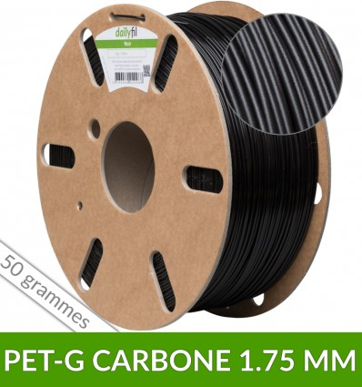 PET-G Carbone dailyfil 1.75 mm - couronne 50g
