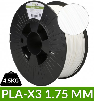 PLA-X3 Blanc 1.75 mm dailyfil 4.5kg - dailyfil