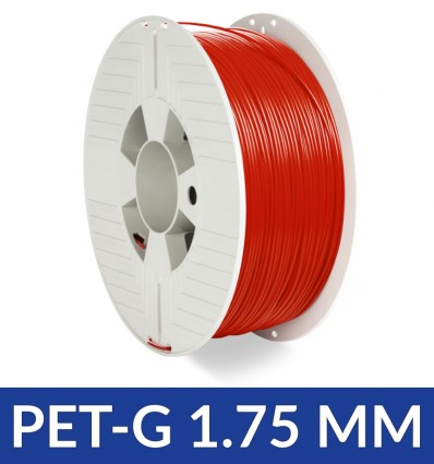 Bobine PET-G Verbatim rouge 1.75 mm - 1KG