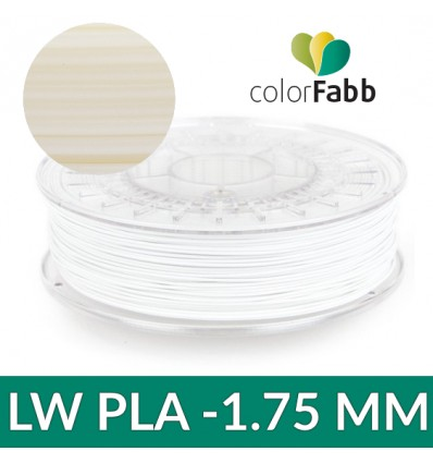 LW-PLA 1.75 mm Naturel : PLA ACTIVE FOAMING 750g - ColorFabb
