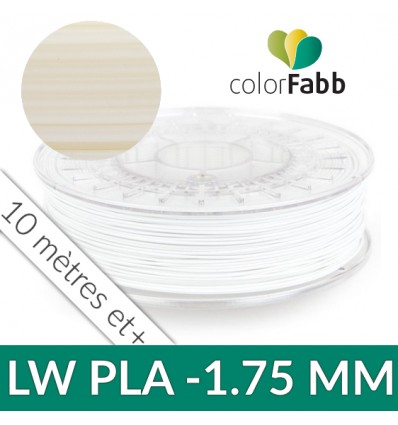 LW-PLA ColorFabb 1.75 mm Naturel : PLA ACTIVE FOAMING - Au détail