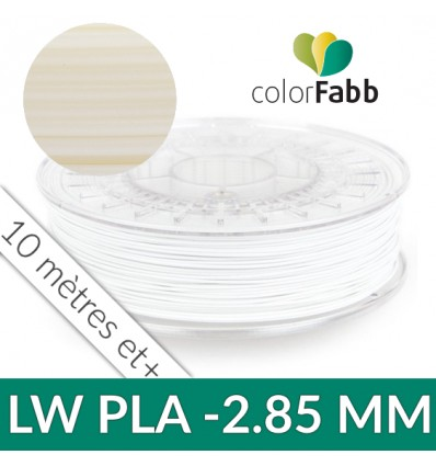 LW-PLA : PLA expansif 2.85 mm naturel Colorfabb - au détail