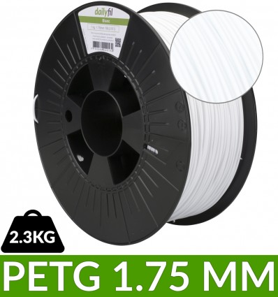 Bobine PET-G 1.75 mm blanc | 2,3kg dailyfil