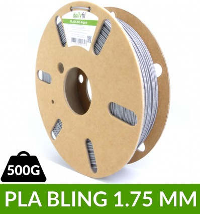PLA BLING 1.75 mm argent dailyfil 0.5kg