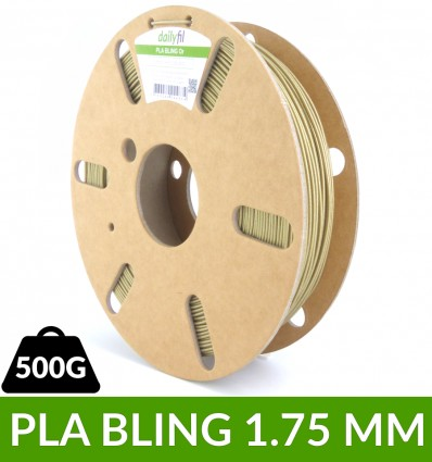 Filament Paillette : PLA Bling dailyfil - Or 1.75 mm 500g