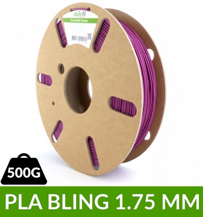 PLA BLING pailleté pourpre 1.75 mm dailyfil 500g