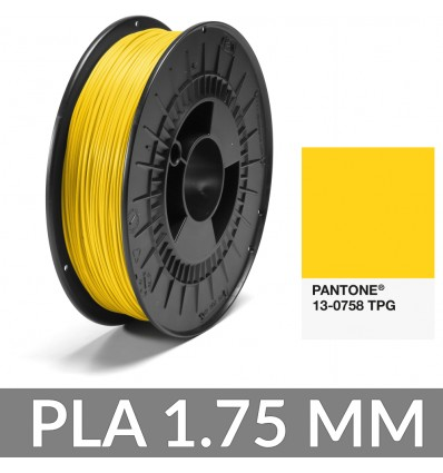 PLA Pantone® : 13-0758 TPG Jaune - 1.75 mm 750g FiberForce