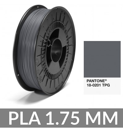 PLA 1.75 mm Gris Roche Pantone® 18-0201 TPG - FiberForce 750g
