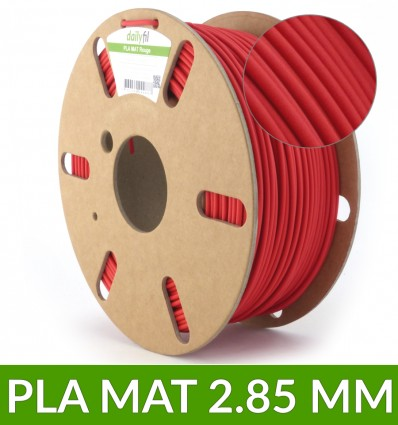 Filament PLA mat Rouge 2.85 mm 1kg - dailyfil