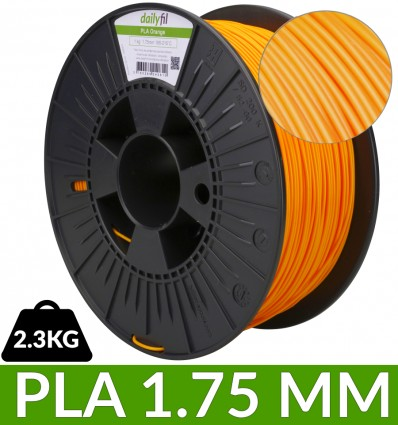 PLA 1.75mm orange dailyfil 2.3 kg
