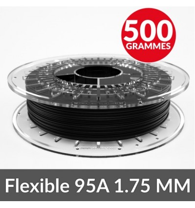 95A FilaFlex noir 1.75 mm Medium-Flex - 500g